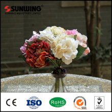 Red outdoor decorative artificial crystal flower wall for wedding