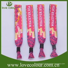 Handicraft of polyester woven wristbands for wedding favors wholesale