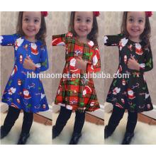Robe de costume coloré bleu de haute qualité pour la robe de fille de Noël d'enfants