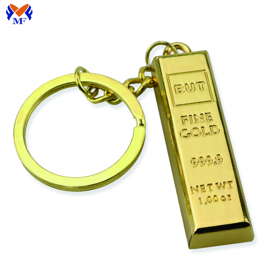 Gold Bar Keychain