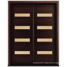 Mahogany Modern Solid Wood Exterior Doors, Modern Entry Door
