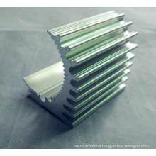 CNC Machinery Aluminum Radiator in a Special Shape, with a Competitive Price.