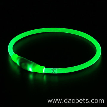 USB Rechargeable Night Safety LED Pet Necklace Collar