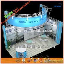 Ausstellungsstand des Aluminium- und Acrylbinders, der tragbar und modular ist, machte in Porzellan