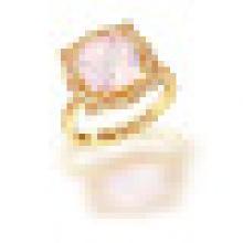 3.20CT Round Cut Natürliche Rosenquarz Bergkristall Quarz Ringe 925 Sterling Silber für Frauen Engagement Edlen Schmuck