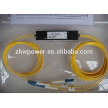 ABS / cassette / coiffe de haute qualité type FBT diviseur, 1 2 1x2 1 * 2 LC UPC / PC fibre optique diviseur / coupleur, mode unique 9/125
