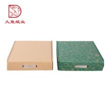 Novo design reciclável caixa de embalagem de maçã de papel quadrado