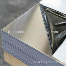 Miroir miroir en aluminium poli isolant d'une épaisseur de 1 mm