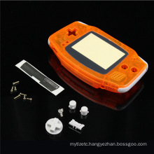 Full Set Transparent Orange Clear Housing Shell Case Cover For Nintendo For GameBoy Advance Console For GBA Repair Parts