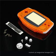 Conjunto completo Transparente Orange Clear Housing Shell Case Cover para Nintendo For GameBoy Advance Console para peças de reparação GBA