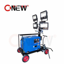 Construction Mobile LED Solar Telescoping Light Tower Mast with Generator Price