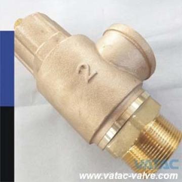 Válvula de seguridad de bronce Pn10 / Pn16 / Pn25 con extremos roscados
