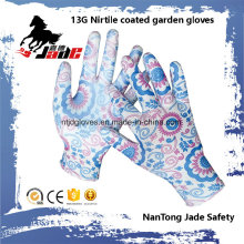 13G Nitrile Coated Garden Work Glove