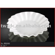 Vajilla porcelana blanca/de la placa
