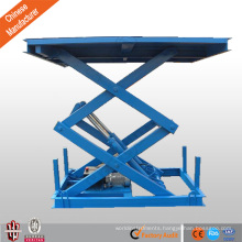 cheap CE stationary double scissor car lift platform for wheelchair
