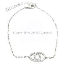Bijoux en argent sterling à la mode 925, bijoux en laiton, bracelet à chaîne (KT3035)