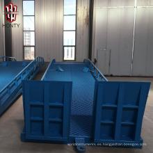 Rampa de carga móvil hidráulica para camiones.