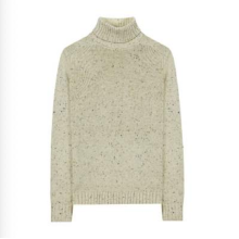 Jersey de punto de lana de Navidad con cuello alto