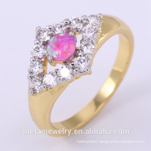wholesale carbide finger ring for women with double color plating Rhodium plated jewelry is your good pick