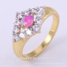 atacado anel de dedo de metal duro para as mulheres com dupla cor chapeamento ródio banhado a jóias é sua boa escolha