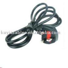 Universal UK 3-Prong laptop uk power cable with fuse 6ft 1.8m