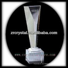 trofeo de cristal en blanco atractivo del diseño X049