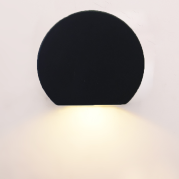5W Round Black indoor wall lights contemporary