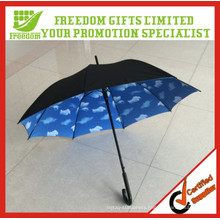 Unique And Fashional Stryle Top Quality Umbrella Cloud Printed Inside