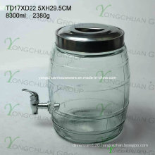 8.5L Glass Beverage Dispenser with Metal Stand