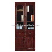 Adjustable wooden file/book shelf hot sale office wooden book shelf design for MDF + Paper finishing (T8042)