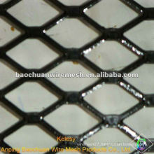 Black heavy duty expanded metal mesh (Factory)