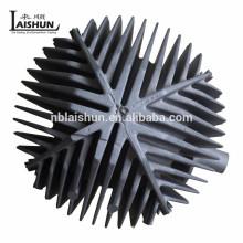 China OEM alumínio die casting fabricante sandblasting dissipador de calor de alumínio