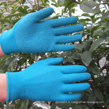 Gants en polyester revêtus de latex en polyester Gant de travail à main de sécurité