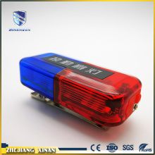 mini size red blue flashing shoulder warning light