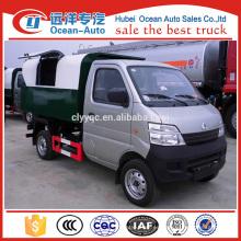 Changan mini camión de basura de volcado con capacidad de 2 ~ 3cbm para la venta