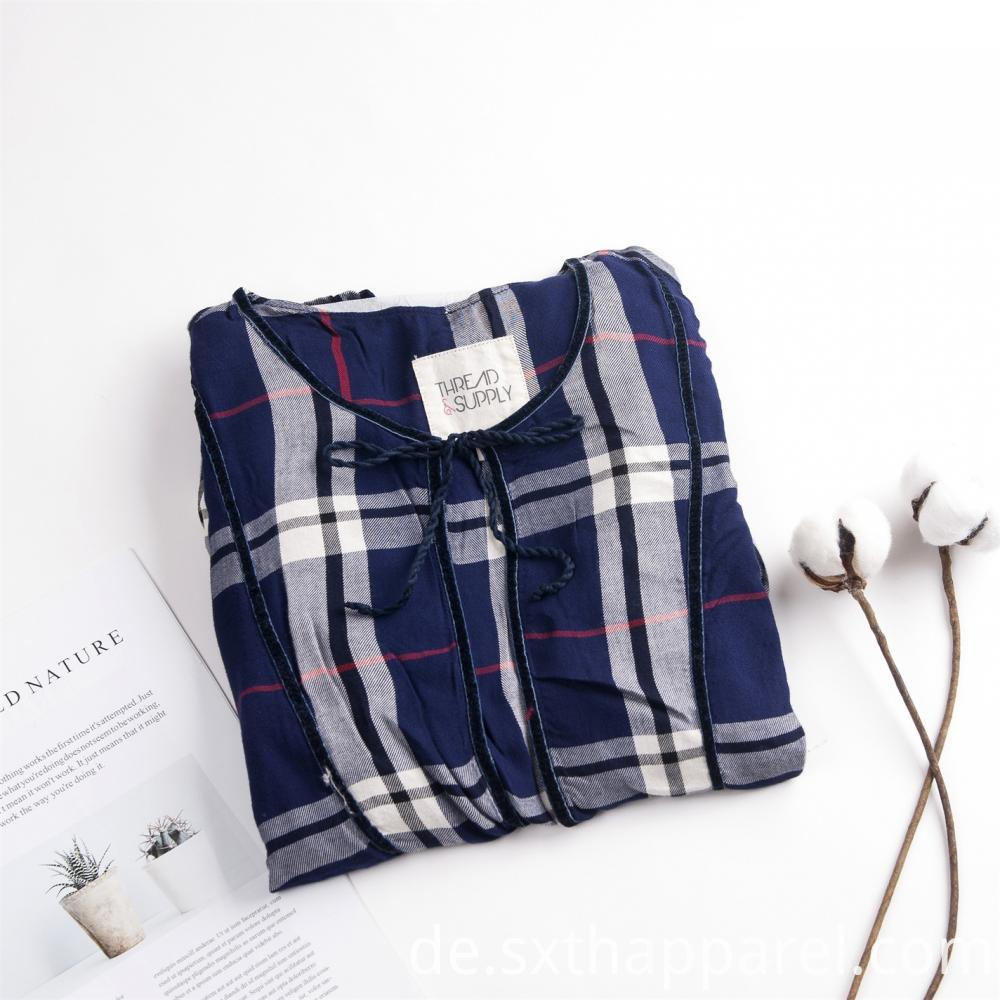 Plaid Check Long Horn Sleeve Shirt
