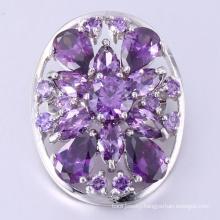 Fashion glass shinning copper brooch jewelry