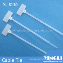 Attache de câble en nylon pour étiquette de marquage