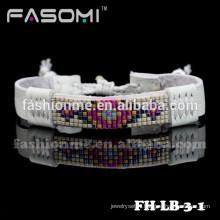 bracelet à breloques en gros cuir à prix usine