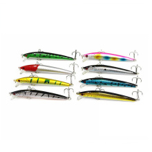 China Fishing Tackle Artificial Hard Plastic Baits Sinking Minnow Lures Fish Accessories