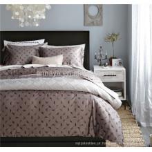 Luxo 100% Algodão Egípcio Reativo Print Bedding Set com folha de cama