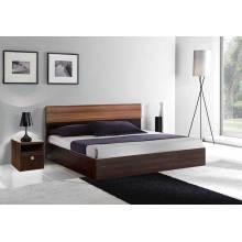 Lit queen en bois, meuble moderne pour chambre à coucher