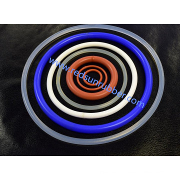 Joint torique en caoutchouc coloré de silicone d'OEM