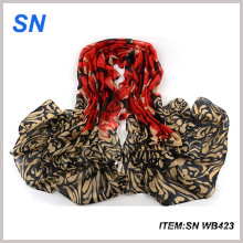 Fashionable Voile Material Printed Winter Scarf