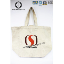 Promotional Custom Recyclable Shopping Cotton Canvas Tote Bag