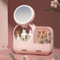 Ventilateur et miroir de maquillage réglable et rotatif à 360 °