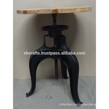 Industrial Crank Coffee Table Metal Sheet