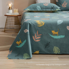 Luxury Bed Sheet Set High Quality Soft Wrinkle Green Full Bed Linen