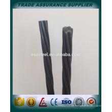 China hochwertiger 15.2mm PC Stahlstrang Hersteller / 12.7mm PC Strang