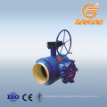 DN600 PN25 heating oil drain ball valve filter carbon steel